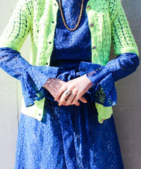 【tiny yearn】Neon Knit Crochet Hand Cardigan