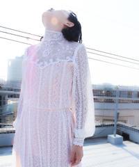 【Seek nur】1970's White Lace Long Dress