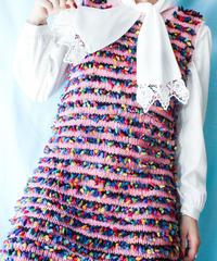【tiny yearn】Colorful Nep Design Knit Dress
