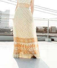 【Seek nur】1970's Pleats Maxi Dress