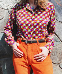 【tiny yearn】1970's Velvet Retro Blouse