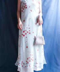 【Seek nur】Flower Sheer Long Dress