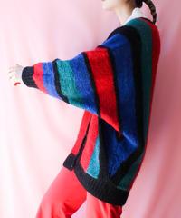 【tiny yearn】Euro Mulch Stripe Knit Cardigan