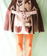 【tiny yearn】1970's Suede Leather Poncho