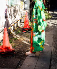 【tiny yearn】1970's Big Flower Long Gown