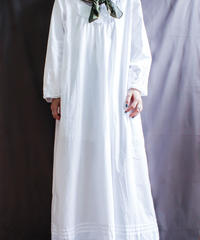 【Seek nur】Embroidery Cotton Long Dress