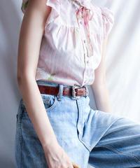【Seek nur】1970's Flower Frill sleeve Blouse