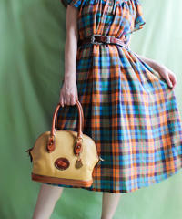 【tiny yearn】Over Check Flare Dress