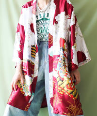 【tiny yearn】Japanese pattern Satin Gown
