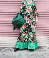【tiny yearn】Euro Flower Handmade Maxi Dress