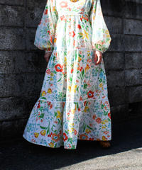 【tiny yearn】1970's Flower Tiered Dress