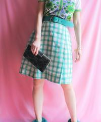 【tiny yearn】Check Box Pleats Skirt