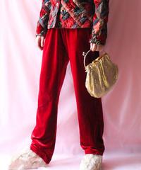【tiny yearn】Velvet Easy Pants/Red