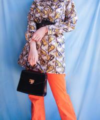 【tiny yearn】70's Paisley Shirt Mini Dress