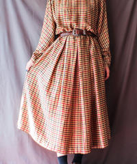 【Seek nur】Gunclub Check Silk Dress