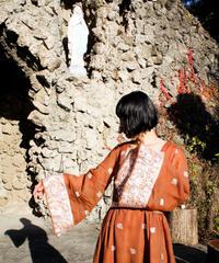 【Seek nur】1970's Euro Embroidery Sheer Maxi Dress