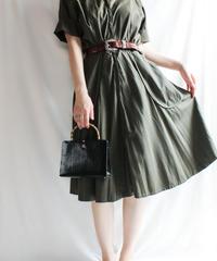 【Seek nur】1950's Olive Green Flare Dress