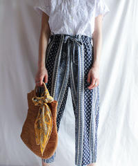 【Seek nur】Oriental Pattern Easy Pants