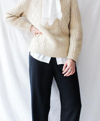 【Seek nur】Ireland Hand Knit Fisherman Sweater
