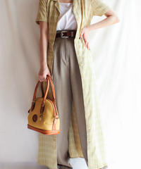 【Seek nur】Check Long Shirt Dress