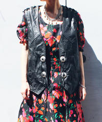 【Seek an nur】Leather Concho Over Vest