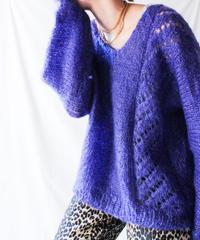 【Seek nur】Euro Metallic Chunky Mohair Sweater