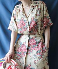 【Seek an nur】Ralph Lauren Flower Shirt Dress