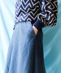 【tiny yearn】Stitch Design Flare Skirt