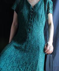 【Seek nur】Dark Green Lace Dress