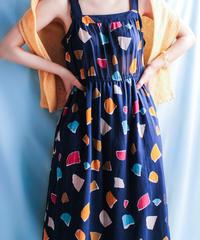 【tiny yearn】Art Pattern Sheer Dress