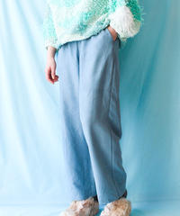 【tiny yearn】Faux Suede Easy Pants/Blue