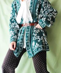 【tiny yearn】Arabesque Pattern Knit Cardigan