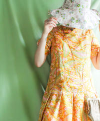 【tiny yearn】1970's Flower Paisley Dress