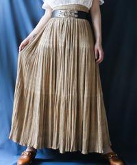 【Seek an nur】Embroidery Accordion Pleats Skirt