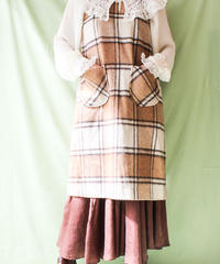 【tiny yearn】Check Wool Over dress