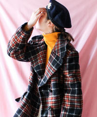 【tiny yearn】Switzerland Check Reefer Coat