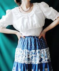 【Seek an nur】Euro Lace White Dirndl Blouse