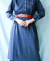 【tiny yearn】Italy Chain Pattern Knit Dress