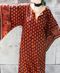 【tiny yearn】African Batik Maxi Dress