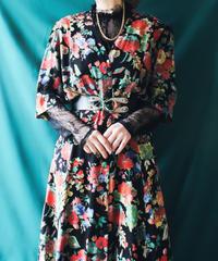 【Seek an nur】Euro Art Flower Long Dress