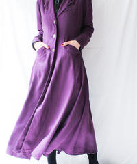 【Seek nur】Purple  Long Shirt Dress