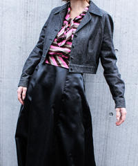 【Seek nur】Black Denim Short Jacket