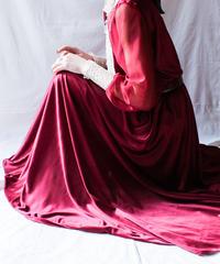 【Seek nur】Lace Design Sheer Maxi Dress