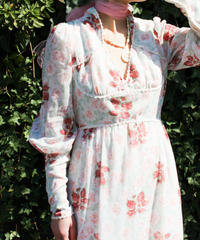 【Seek an nur】1970's Flower Sheer Maxi Dress