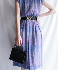 【Seek nur】Art Sheer Shirt Dress