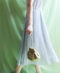 【tiny yearn】Sheer Pleats Jumper Skirt