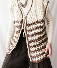 【Seek nur】Hand Knit Chunky Vest
