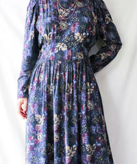 【Seek nur】Flower Pattern Flare Dress