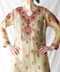 【Seek an nur】Euro Embroidery Sheer Dress