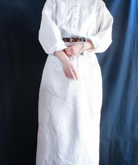 【Seek nur】White Long Shirt Dress